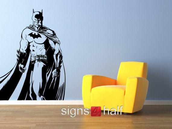Removable Batman Wall Art Decor Decal Vinyl Sticker Mural Superhero 52 Via Etsy Signs4half Shop
