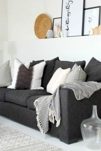Best 20+ Dark gray sofa ideas on Pinterest | Gray couch ...