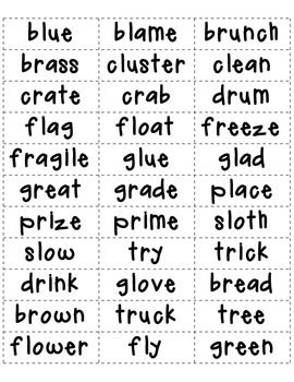 25+ best ideas about Consonant blends on Pinterest