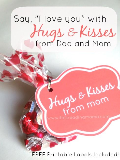 Hugs And Kisses From Dad And Mom Love You I Love And Dads