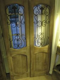 PAIR decorative wrought iron wall Door panel ,Floor screen