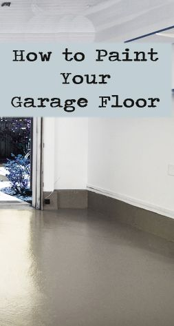 Painting your garage floor is an easy way to spruce up your garage or create more living space in your home. Finally, there is