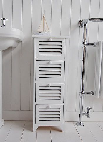 Slim Freestanding Bathroom Cabinet with 4 drawer  Master