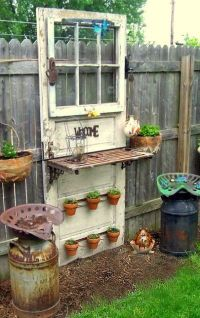 Turn an old door into a fabulous garden shelf! | DIY ...