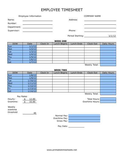 Biweekly Time Sheet Calculator   getcontagio.us