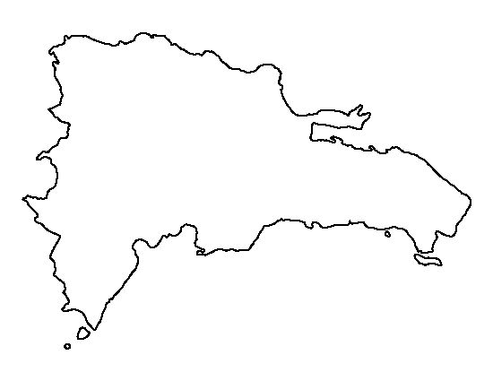 Dominican Republic pattern. Use the printable outline for
