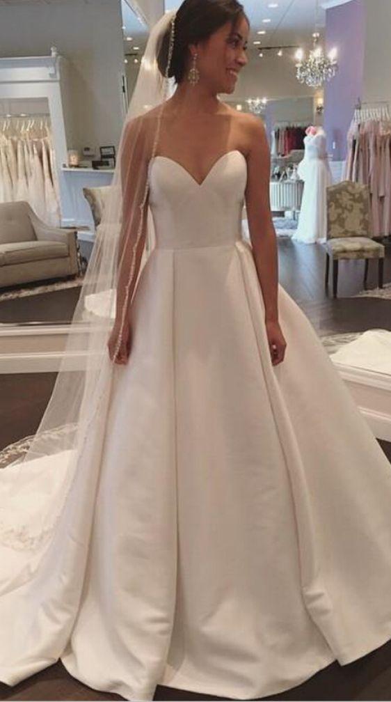 Best 25 Satin wedding dresses ideas on Pinterest  Satin wedding gowns Satin style wedding