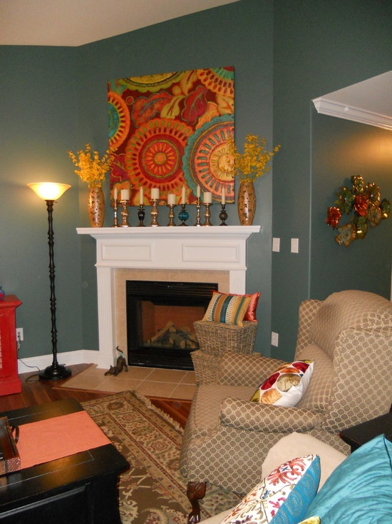 paint colors for living rooms with white trim shades of blue room sherwin williams rocky river 6215 | pinterest ...