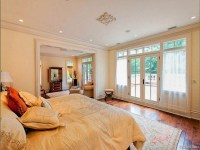 Master bedroom with french doors leading to patio terrace ...