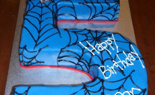 Image Detail For Spiderman 5th Birthday Cake By H0p31355