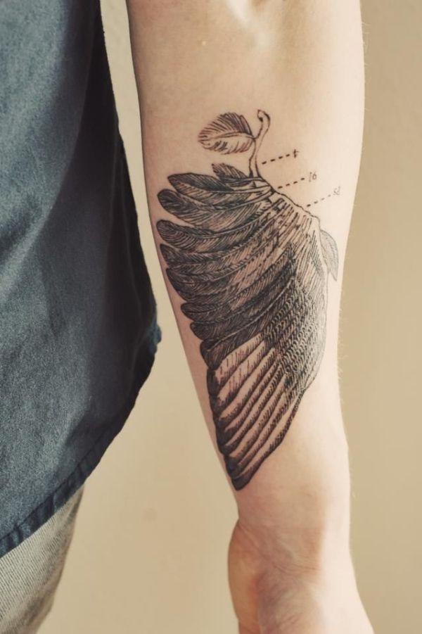 brucius tattooist #wing #tattoo