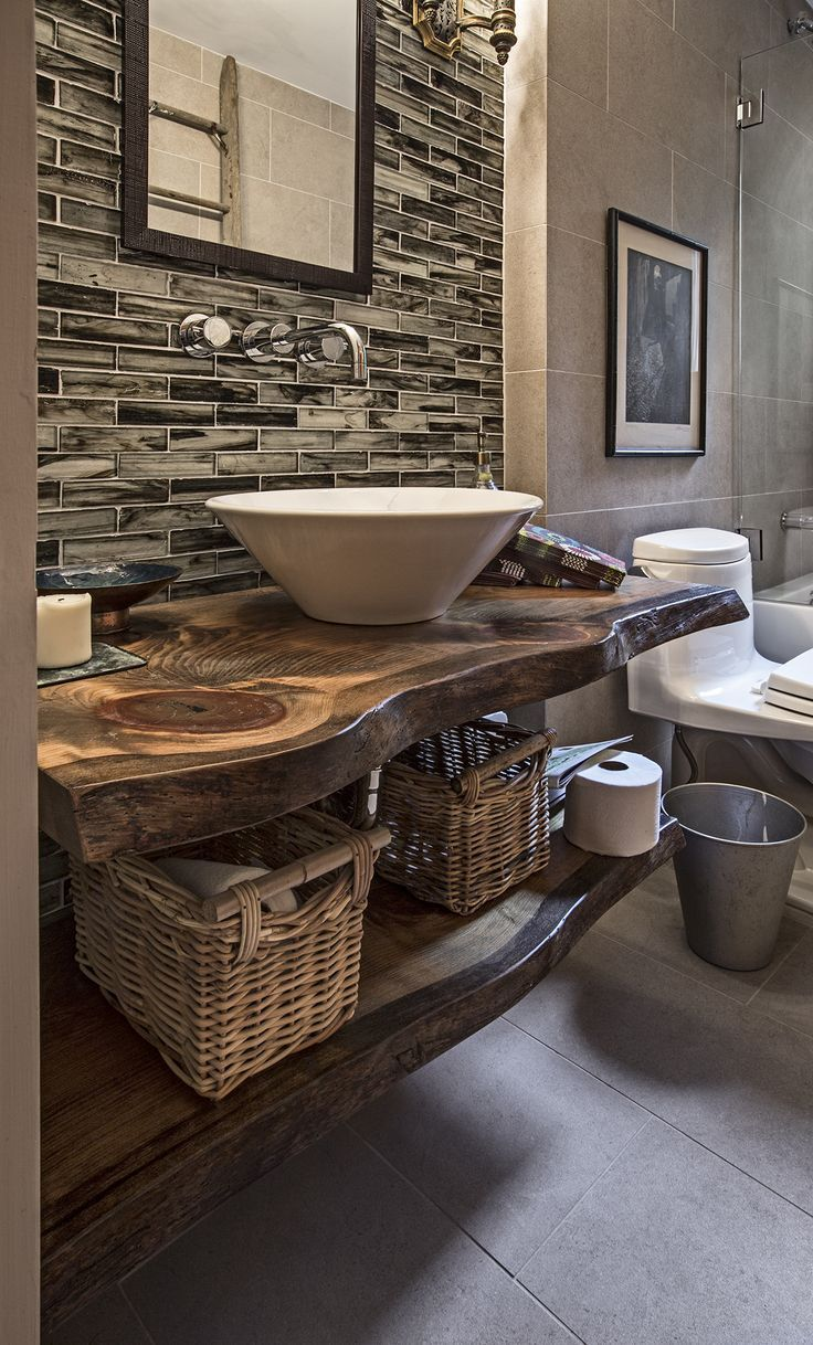 25 Best Ideas about Rustic Modern Bathrooms on Pinterest