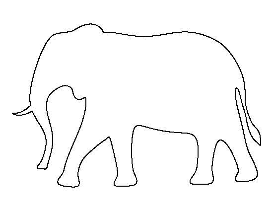 25+ bästa idéerna om Elephant template på Pinterest