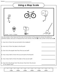 Map scale worksheet