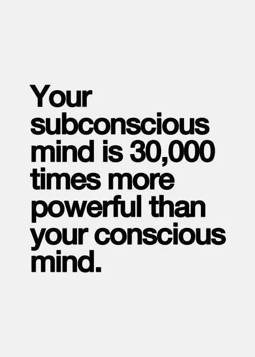 This is why subconscious patterns must be identified and
