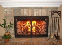 Arched Inside Rectangle Fireplace Doors San Diego ...