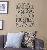 17 best Vinyl Wall Quotes on Pinterest | Family wall ...