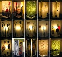Decoupaged lamps. Ikea hack: start with a Grono lamp, add ...