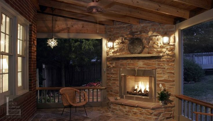 23 Best Images About Fireplaces For Back Porches