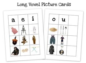 Short and Long Vowel Picture Cards ~ Free Preschool