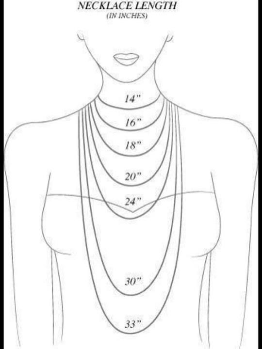 Best 25+ Necklace length chart ideas on Pinterest