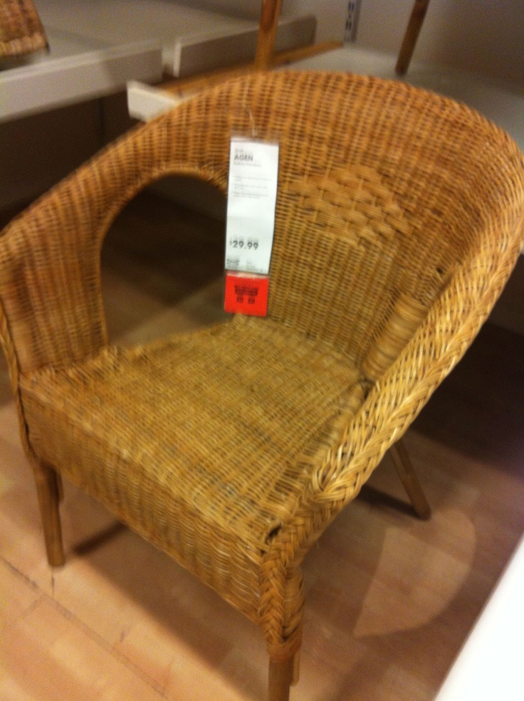 Wicker chair  IKEA  Farmhouse  Pinterest  Porches Ikea and Chairs
