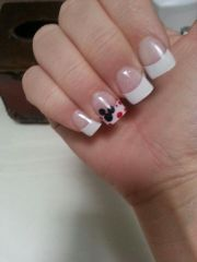 french manicure disney nails