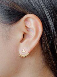 1000+ ideas about Ear Jacket on Pinterest | Stud Earrings ...