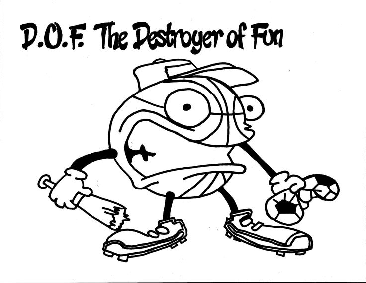 D.O.F The Destroyer of Fun Coloring Page. Team