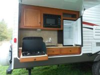 Inimitable Outdoor Kitchens for Rv With Cherry Wood Finish ...