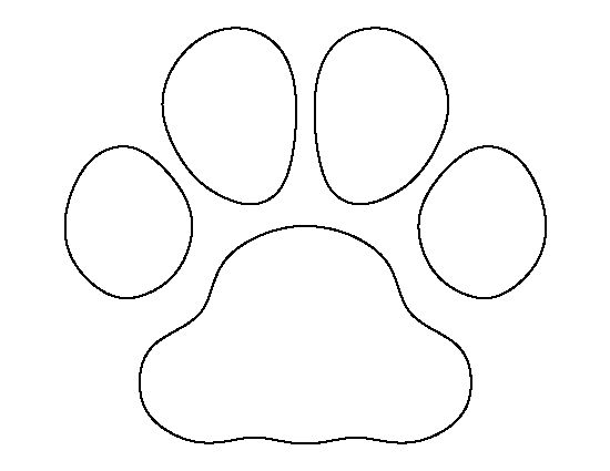 Bulldog paw print pattern. Use the printable outline for