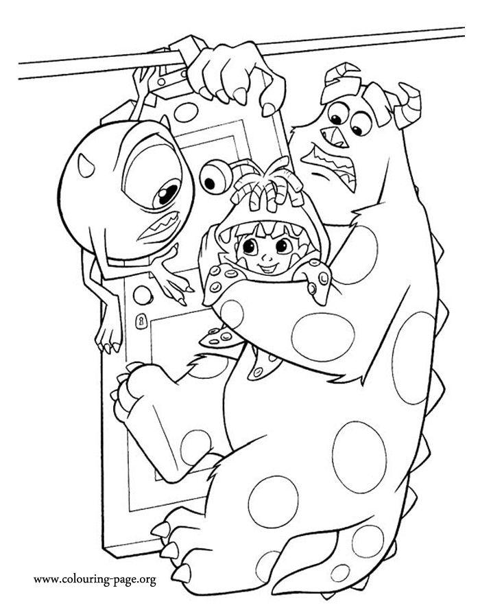 Monsters Inc Boo S Door Mural
