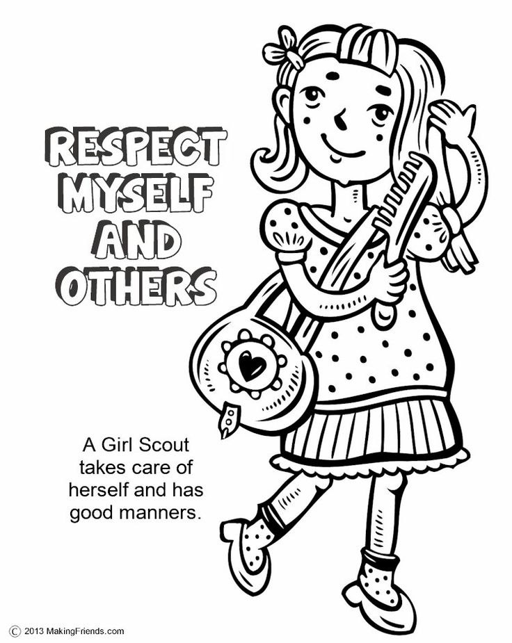 Girl Scouts Respect Myself and Others. Print all the pages
