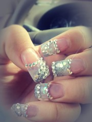 blinged nails beauty