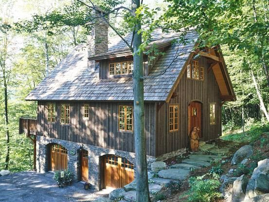 25+ Small Timber Frame Home Landscaping Pictures and Ideas
