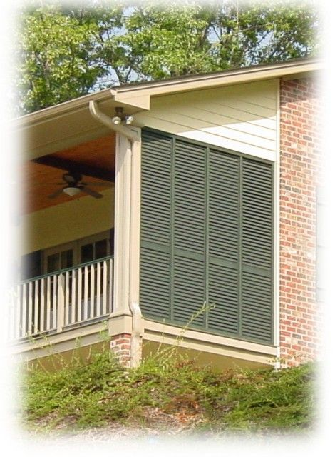Porch Shutter Wall with Moveable Louversjpg Outdoor
