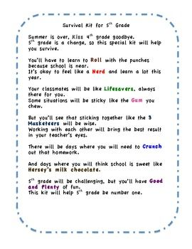 FREE little poem for beginning of the school year  gives