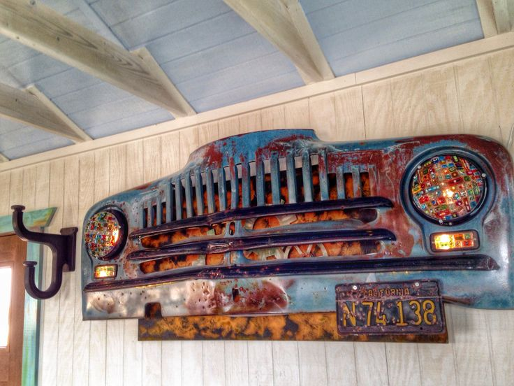 Old International Truck Grill Made Into A Light Car And
