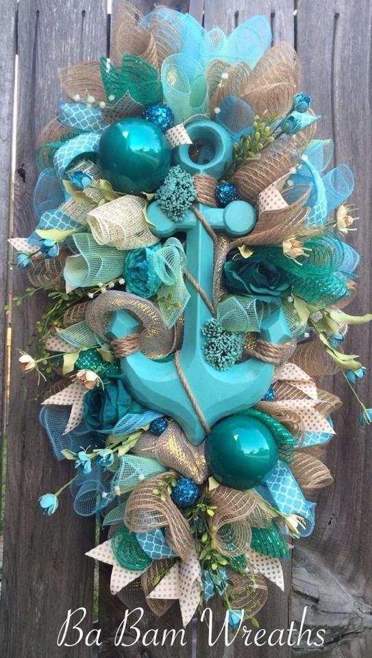 25 best ideas about Beach wreaths on Pinterest  Nautical