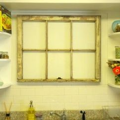 Kitchen Tile Floor Ideas Black Storage Cabinet Will Have To Put A Fake Window Above My Sink, ...
