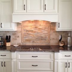 Kitchen Cabinet Hardware Ideas Sink Disposal Custom Cabinetry, Travertine And Ledger Stone ...