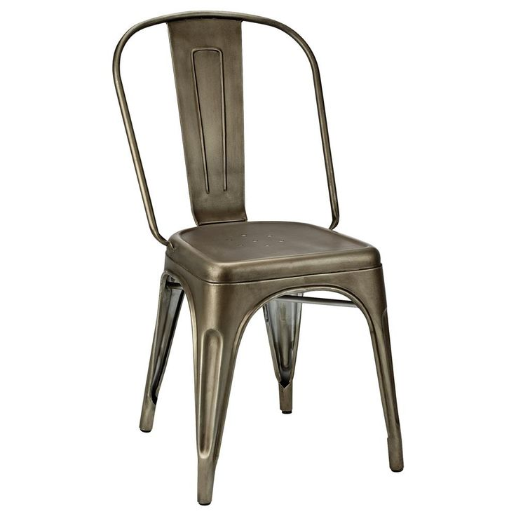 120 each Atelier  Industrial metal dining chairDINING