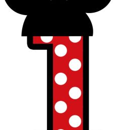 minnie mouse letter clipart download  [ 736 x 1276 Pixel ]