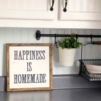 HAPPINESS IS HOMEMADE Handpainted Sign, Handmade, 12x12 ...