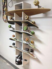 Skateboard Rack I made. | Garages | Pinterest | Couple ...