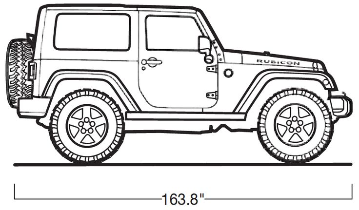 Jeep Wrangler Drawing Sketch Coloring Page Auto Electrical Wiring