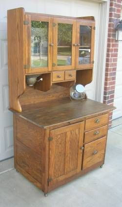 wilson kitchen cabinet hoosier oak cabinets early style bakers with flour bin ...