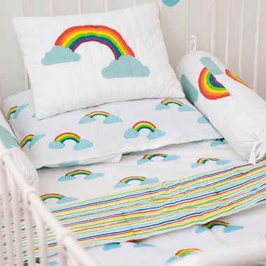 Lulu Nat Nursery Bedding Toddler Rainbow Cot Bed Duvet