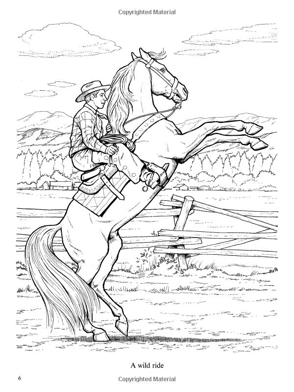 Wonderful World of Horses Coloring Book (Dover Nature