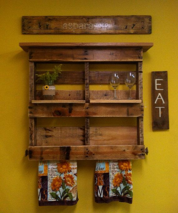 29 Unique Pallet Bathroom Shelves